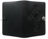 Oberon Celtic Cross Refillable Journal Cover in Black