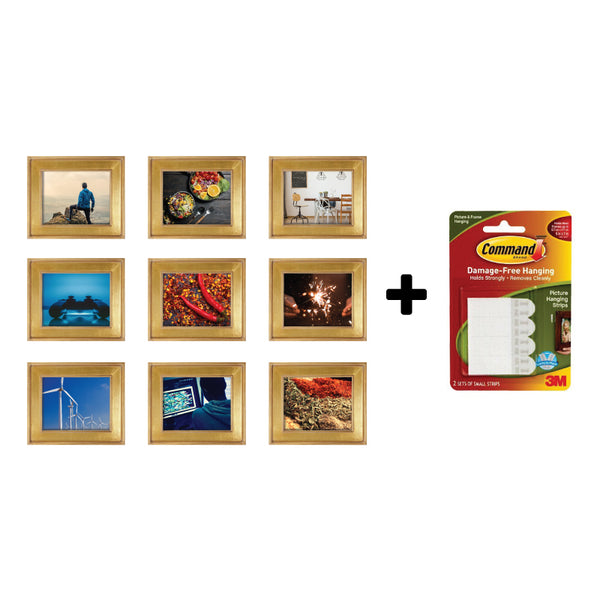 Command - Nine Frame Collage with 3M Command Picture Hanging Strips