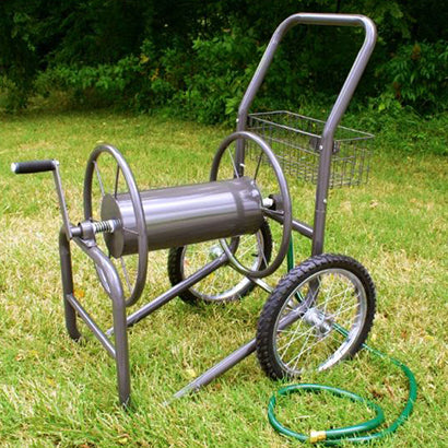 2 Wheel Industrial Grade Garden Hose Reel Cart - 5/8 x 300 ft - Limited Lifetime Warranty! - Factory Direct Hose