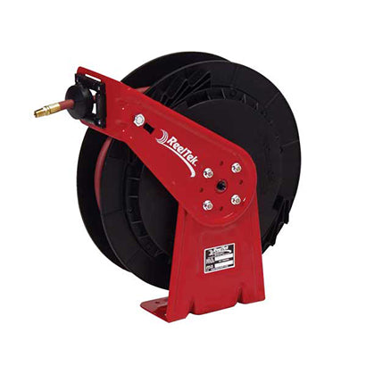 Lightweight Spring Driven Air Hose Reel - 3/8x25 - Hose Included - Made in USA