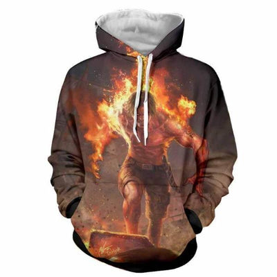 Ace On Fire 3D Hoodie - One Piece