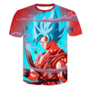 Blue Goku 3D Dragon ball T Shirt
