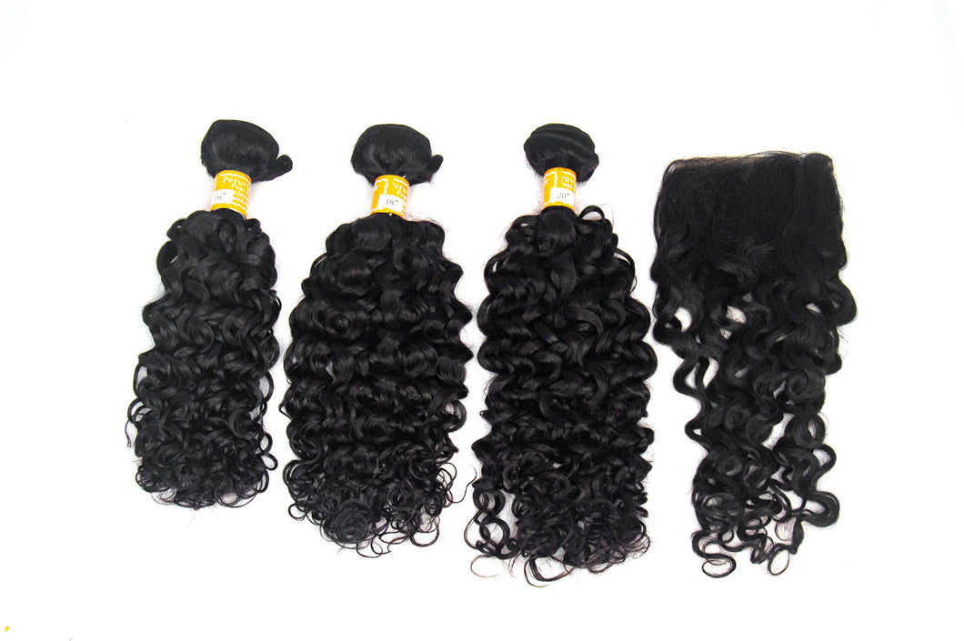 "3 Pack Peruvian Water Wave Hair 10""-20"