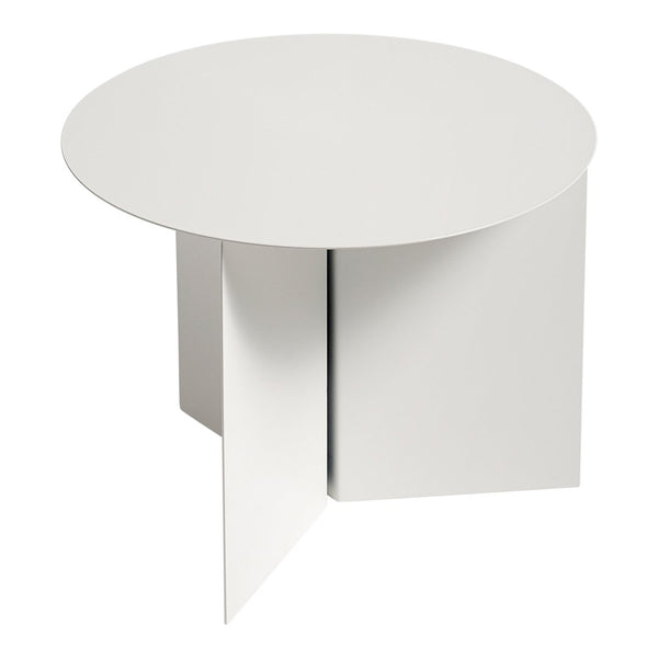 Slit Table Round - White Powder Coated - Outlet - LA Showroom Pickup Only