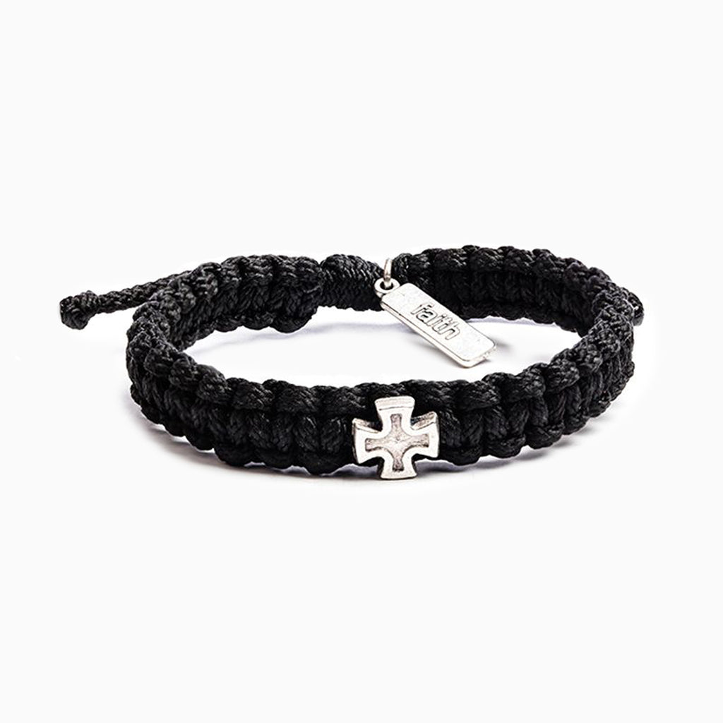 Strength Bracelet - Black/Silver