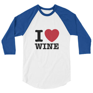 I Love Wine Raglan TShirt