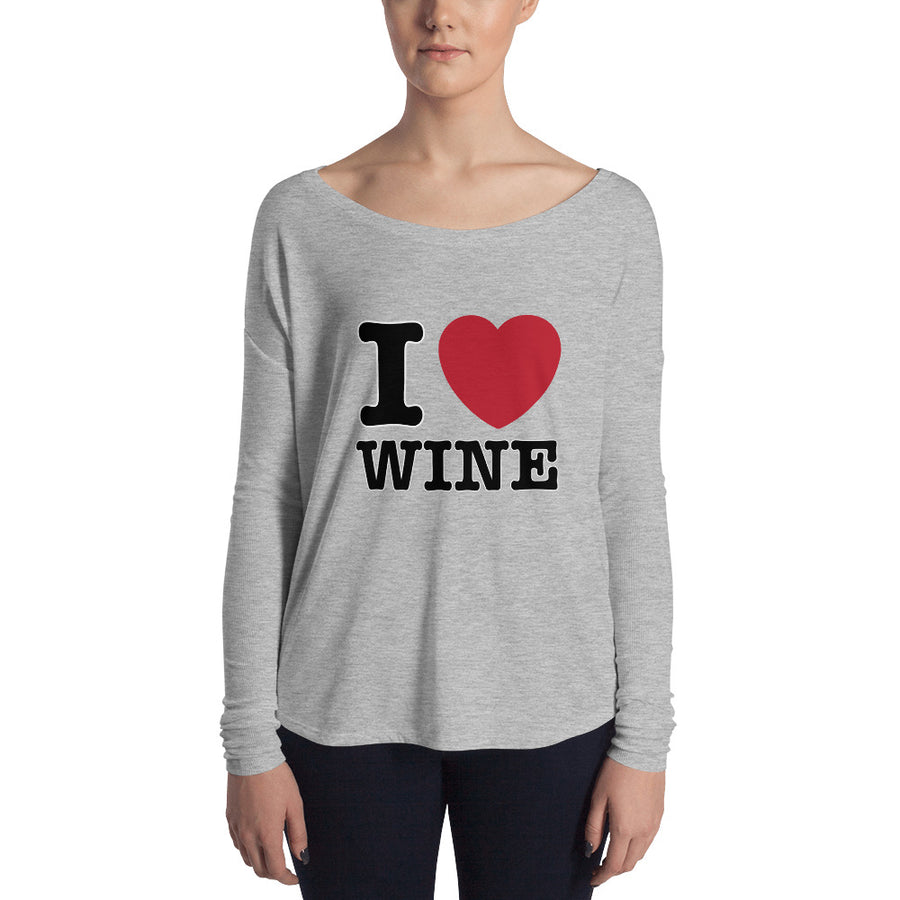I Love Wine Long Sleeve TShirt