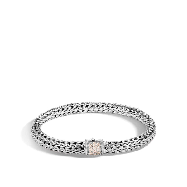 John Hardy Classic Chain Bracelet With Diamonds