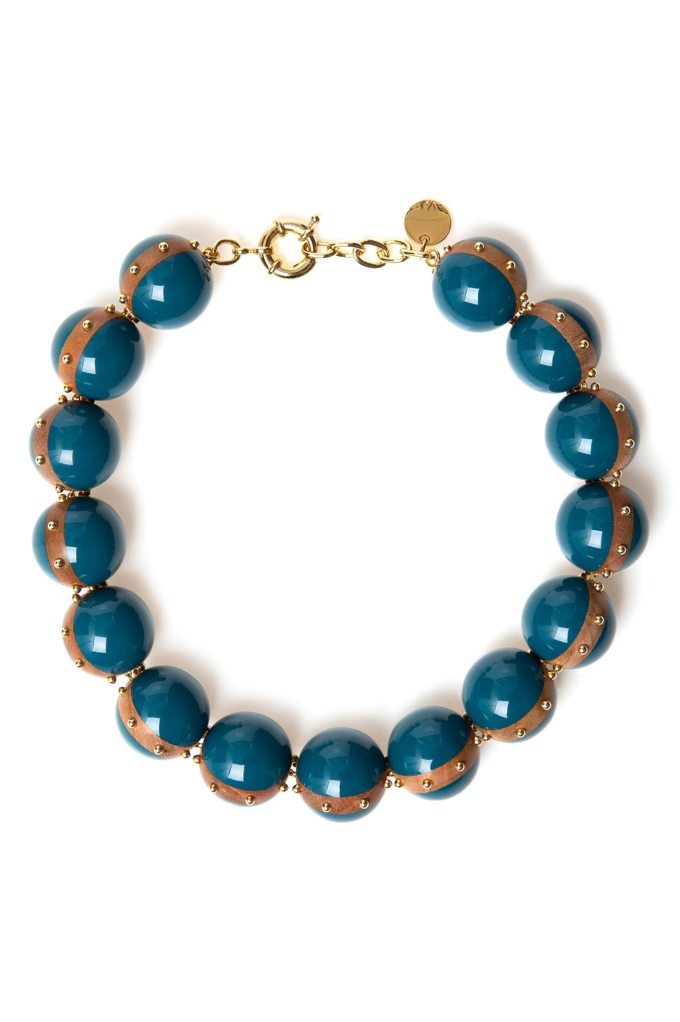 BLUE RESIN BALLS NECKLACE