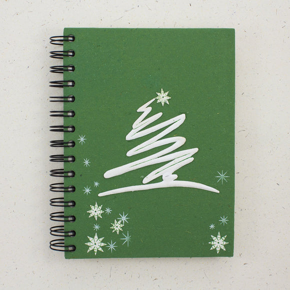 Large Notebook Modern Tree Dark Green