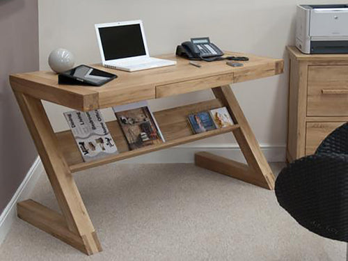 Oxford Z Desk with Drawer and Shelf