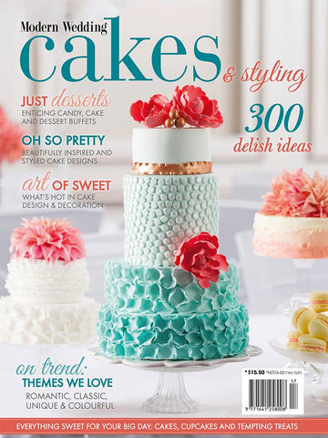 Modern Wedding Cakes & Styling Vol 17