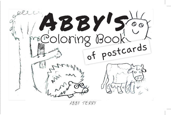Abby coloring book of postcards