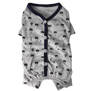 Summer Cotton Breathable Jumpsuit Pajamas - Frenchie N Pug