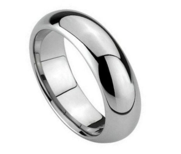 Tungsten 5.5mm Polished Domed Ring