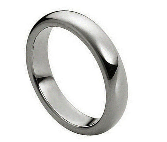 Tungsten 4mm Polished Domed Ring