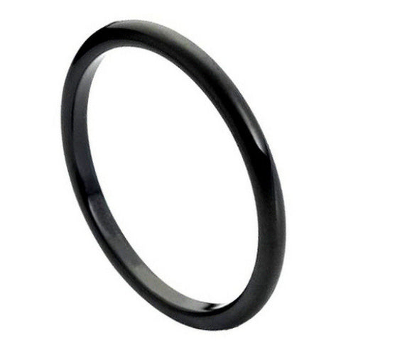 Tungsten 2mm Black Ion Plated Band
