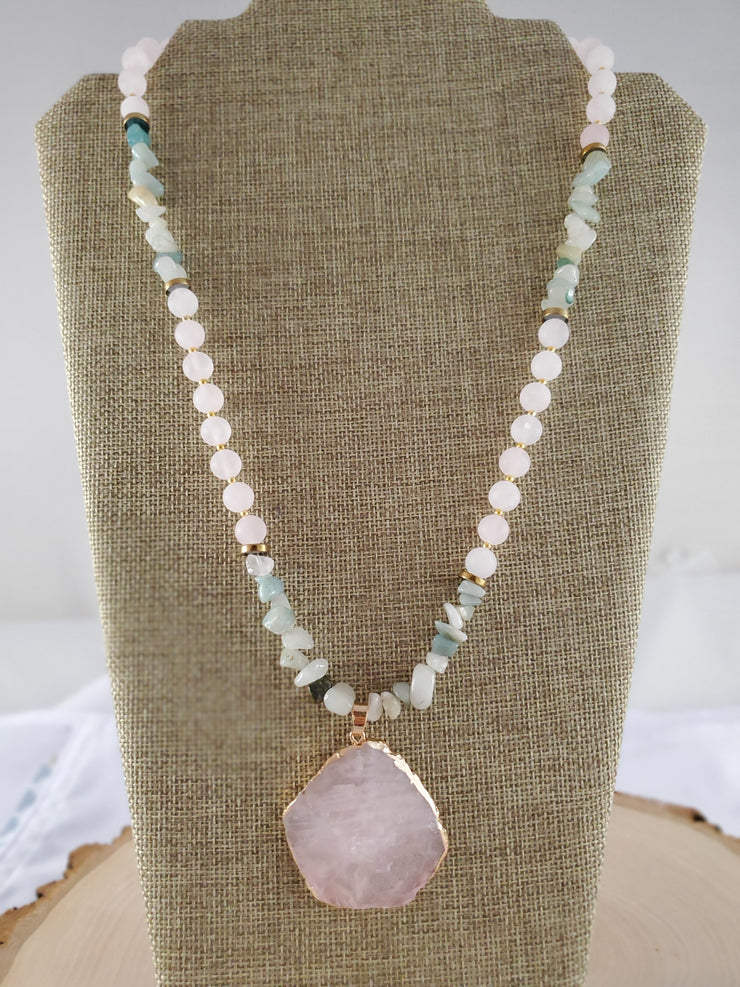 Rose Quartz & Amazonite