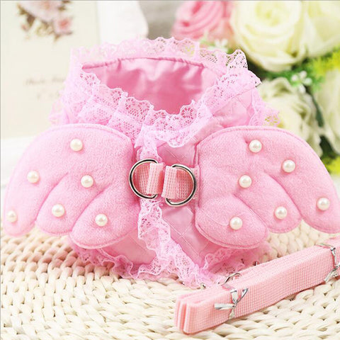 Cute Angel Wing Princess Dog Leash (Also in Blue) - Posh Puppies Boutique
