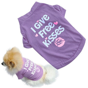 I Give Free Kisses Dog T Shirt (2 Colors) - Posh Puppies Boutique