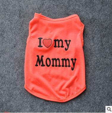 Cute I Love My Mommy and Daddy Shirts (Various Colors) - Posh Puppies Boutique
