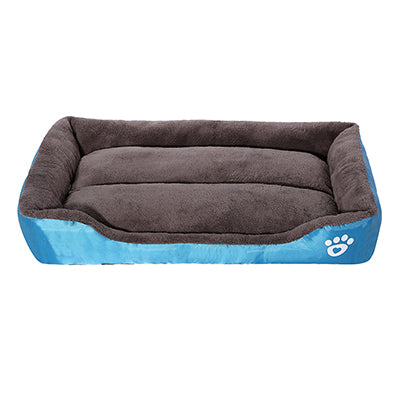 Warm Paw Print Dog Bed (8 Colors, Assorted Sizes) - Posh Puppies Boutique
