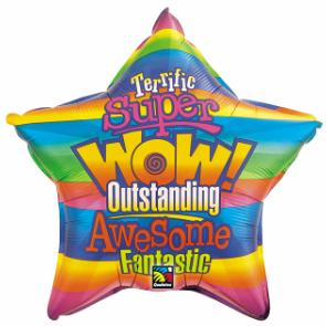 "20"" Star Wow Super Awesome Balloon"