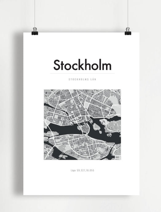 Poster Stockholm A4