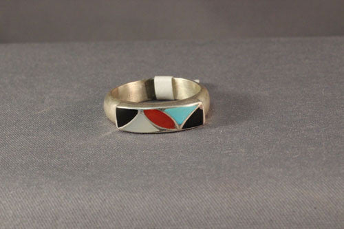 Sterling Silver Zuni Ring With Multi Channel Overlay