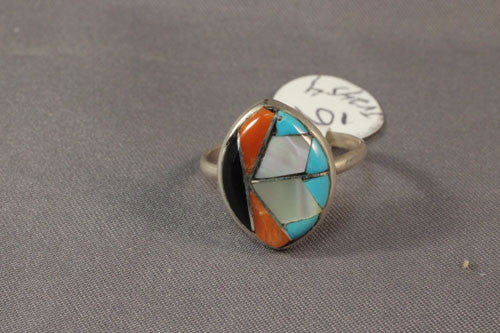 Multi Stone Zuni Inlay Ring