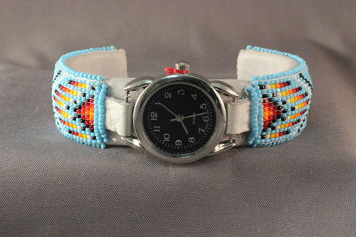 Fine Navajo Beaded Woman's Watch