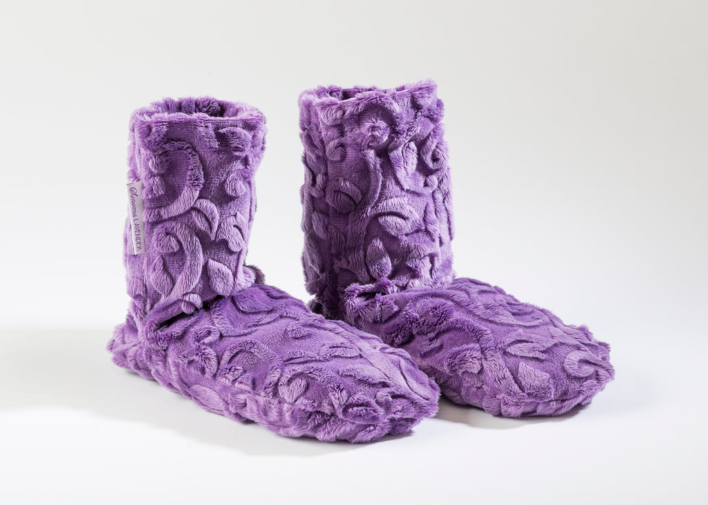 Lavender Spa Booties in Violet Vine