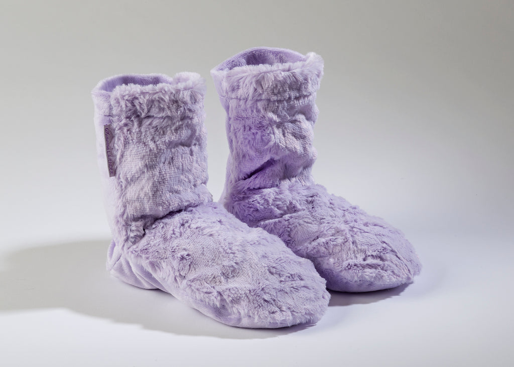 Lavender Spa Booties in Lavender Luxe