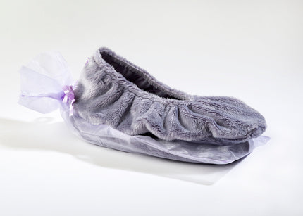 Lavender Spa Footies in Plush Plata Silver