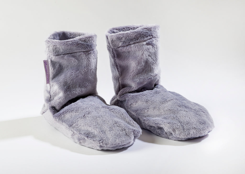 Lavender Spa Booties in Plush Plata Silver