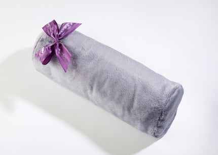 Lavender Spa Neck Roll in Plush Plata Silver