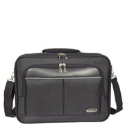 Laptop Messenger Briefcase Work Business Organiser Black Shoulder Satchel A302