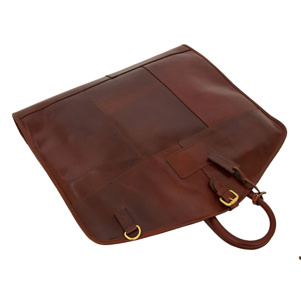 Luxury Leather Suit Carrier Bag Dress Garment Cover Finley Brandy Letdown