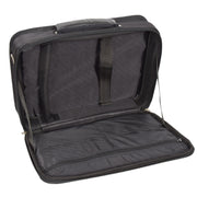 Laptop Messenger Briefcase Work Business Organiser Black Shoulder Satchel A302 Open