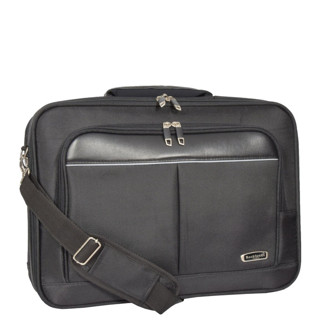 Laptop Messenger Briefcase Work Business Organiser Black Shoulder Satchel A302 Feature