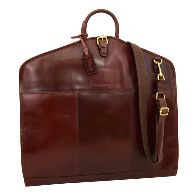 Luxury Leather Suit Carrier Bag Dress Garment Cover Finley Brandy Feature 2