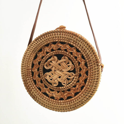 Women's Straw Woven Rattan Shoulder Bag | RnD International