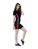 Women's Striped Black Bodycon Dress | RnD International