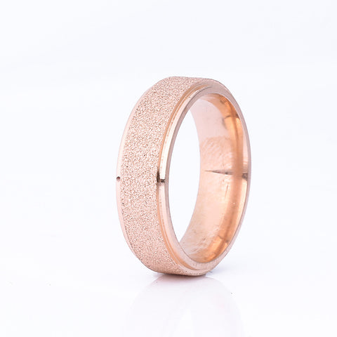 Women's Titanium Frosted Ring, Black Rose Gold Silver Color | RnD International