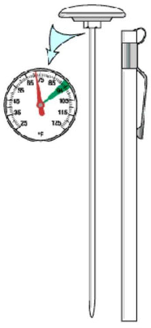 THERMOMETER, PLAIN - F (DIAL)