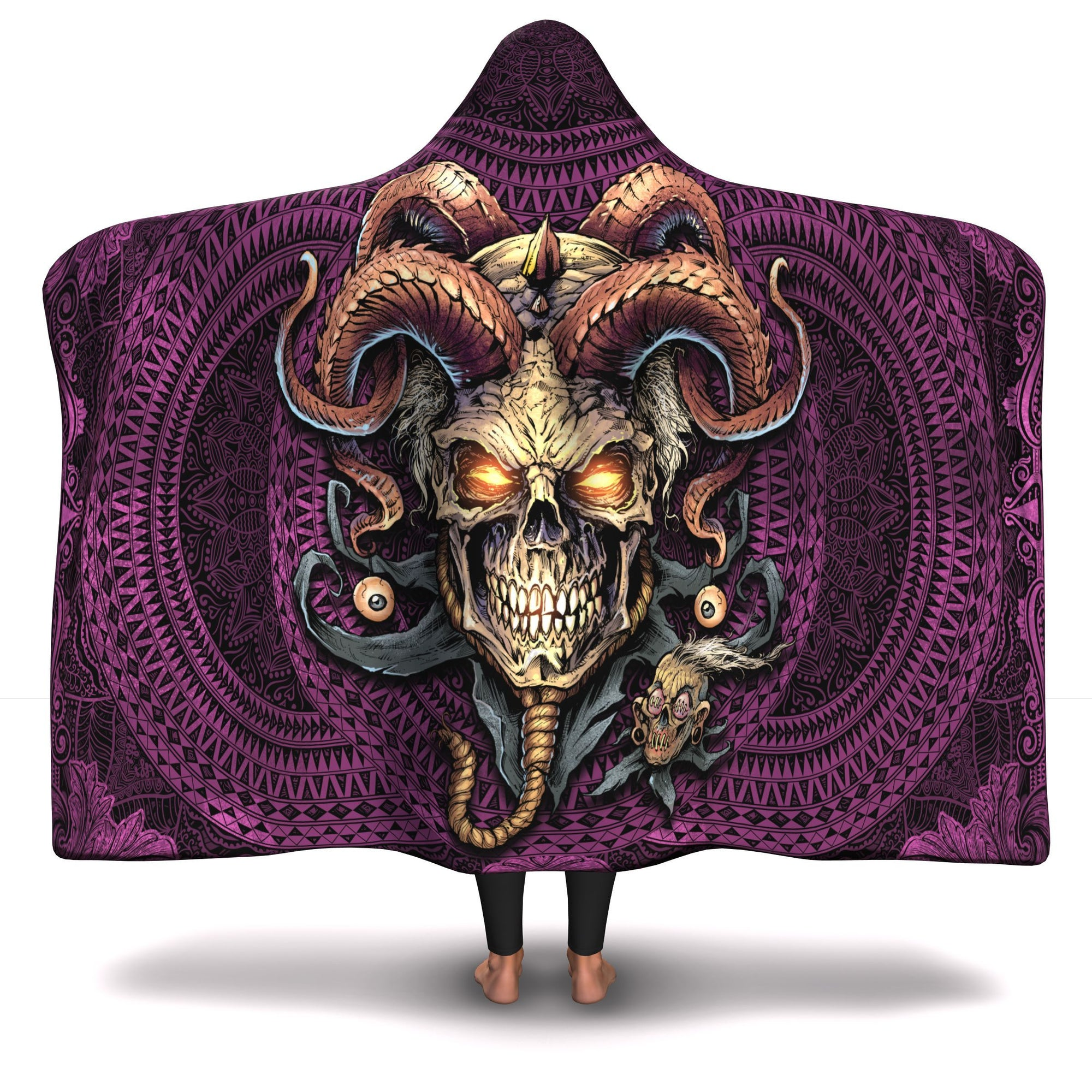 Jester Skull Hooded Blanket