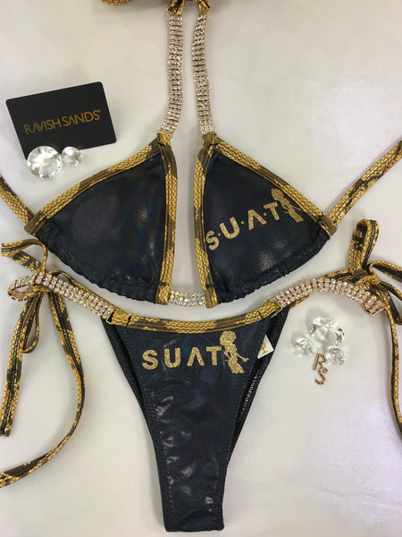 Custom TEAM LOGO Ravish Exclusive tie string Posing bikini w/Embellishment $149-199 Depending logo design/size