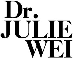 Black Dr. Julie Wei logo