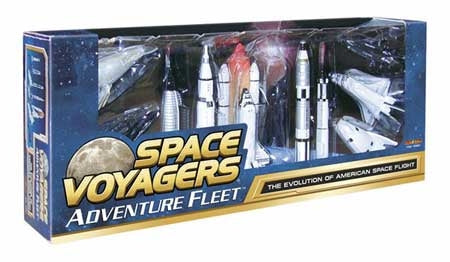 10 Piece Space Rocket and Aircraft Collection set