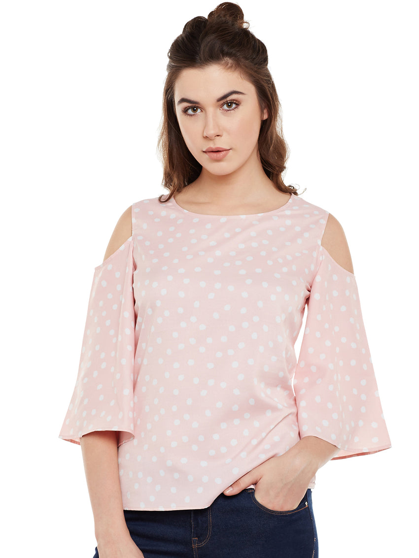 Fabnest Casual Printed Women's Pink Top